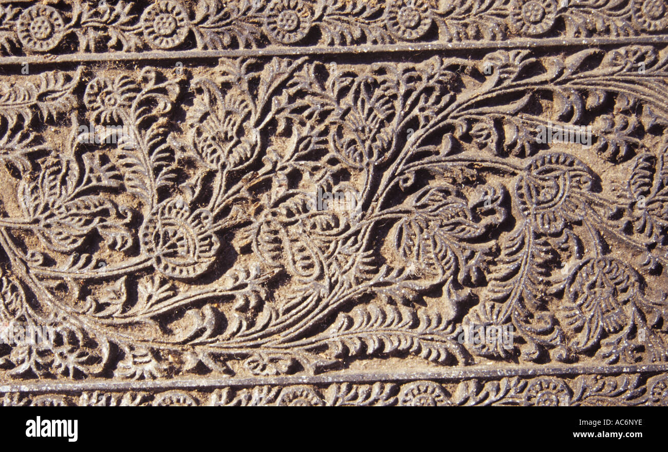 BLOCKS USED FOR KALAMKARI PRINTS MACHILIPATNAM ANDHRA PRADESH - Stock Image