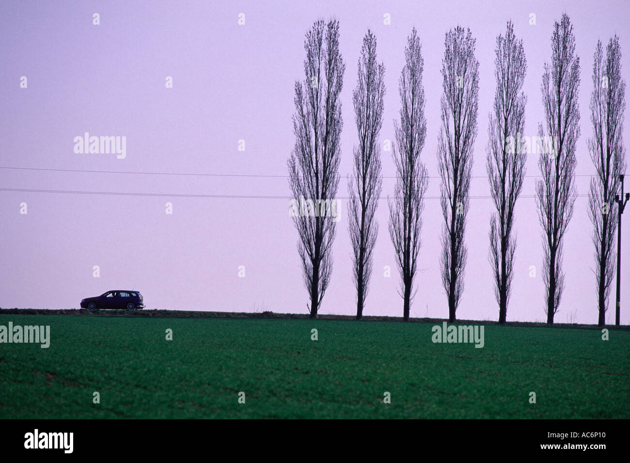 Countryside scenery near Vrchlabi Czech - Stock Image