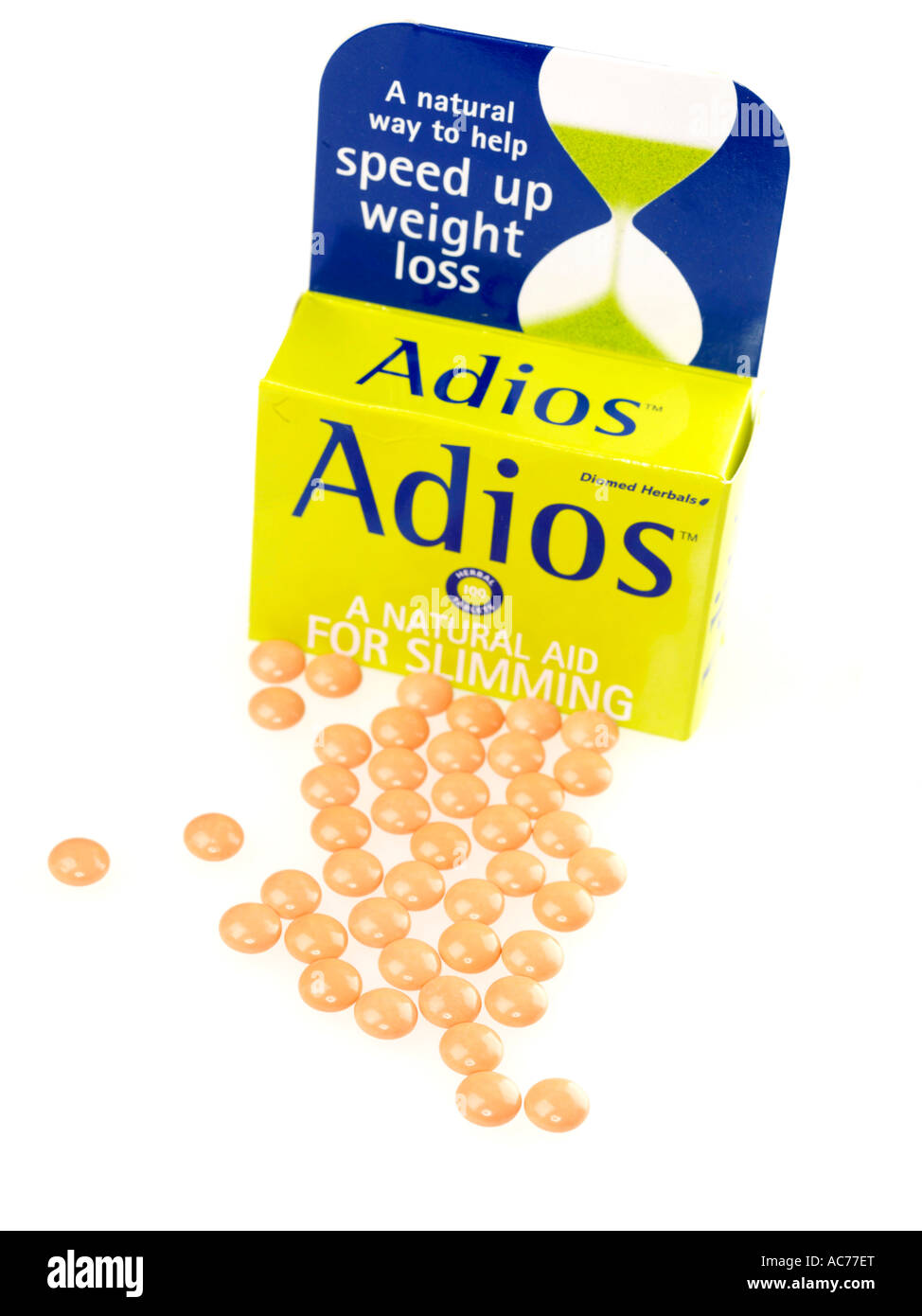 Slimming Tablets Adios Weight Pills Stock Photos Slimming Tablets