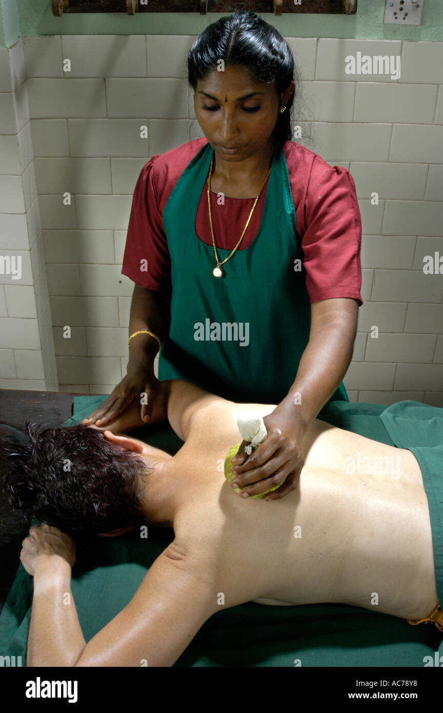 AYURVEDA TREATMENT IN KERALA - Stock Image