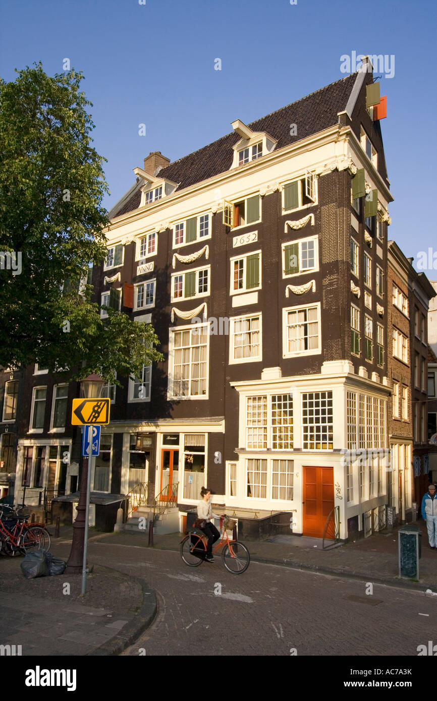 Amsterdam Jourdan Single Gracht old traditional architecture - Stock Image