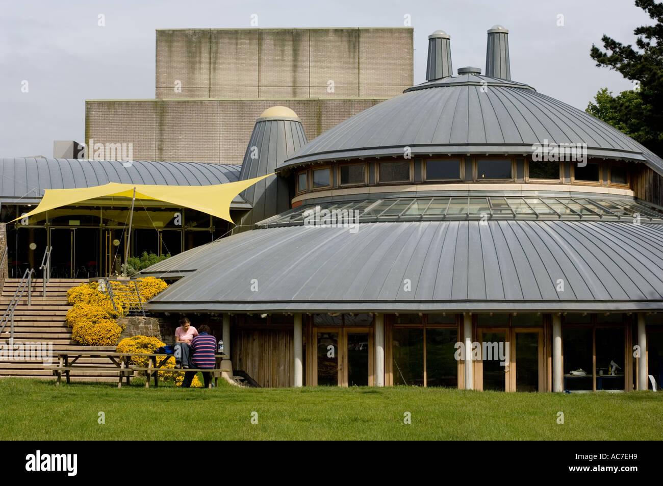Exterior shot of Aberystwyth Arts centre , Wales UK Stock Photo