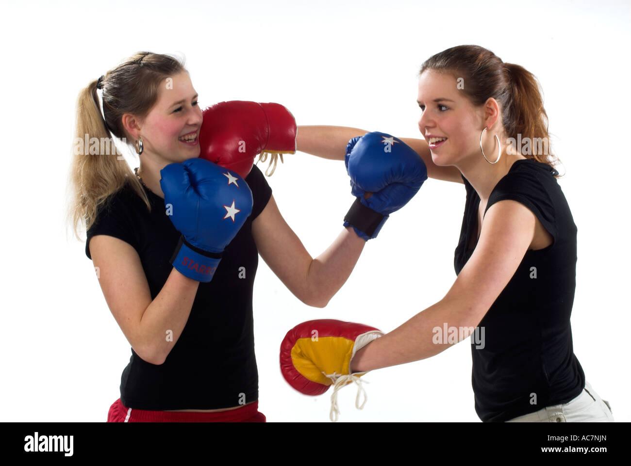Mädchen Boxen