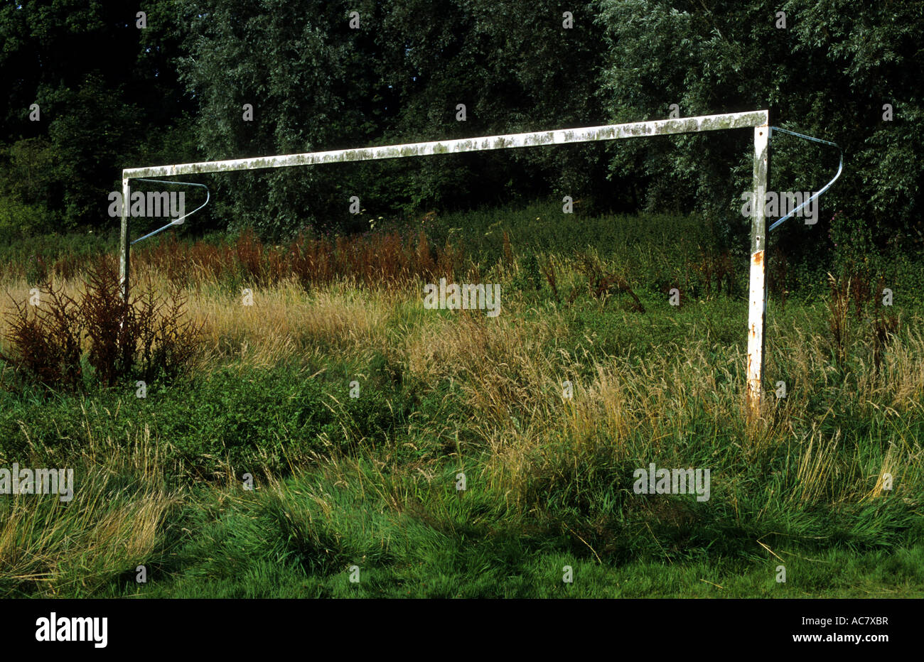 How Long Is A Football Pitch >> Overgrown Football Pitch And Goal Posts Melton Suffolk Uk