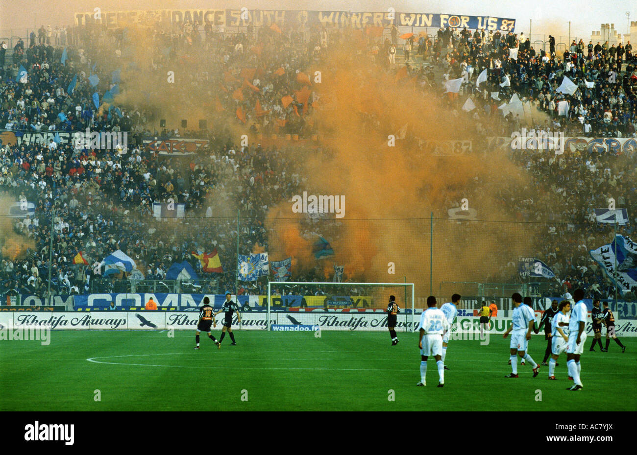 A League game at the Stade Velodrome, home to Olympique Marseille, France. - Stock Image