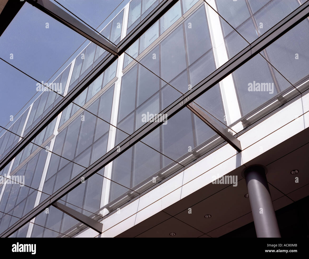 Detail Of Glass Ceiling Covering Walkway By The Side Of