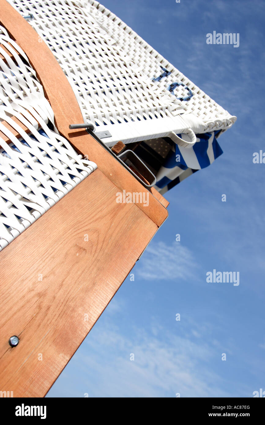 Typical Beach Chairs are seen in Timmendorfer Strand Stock Photo