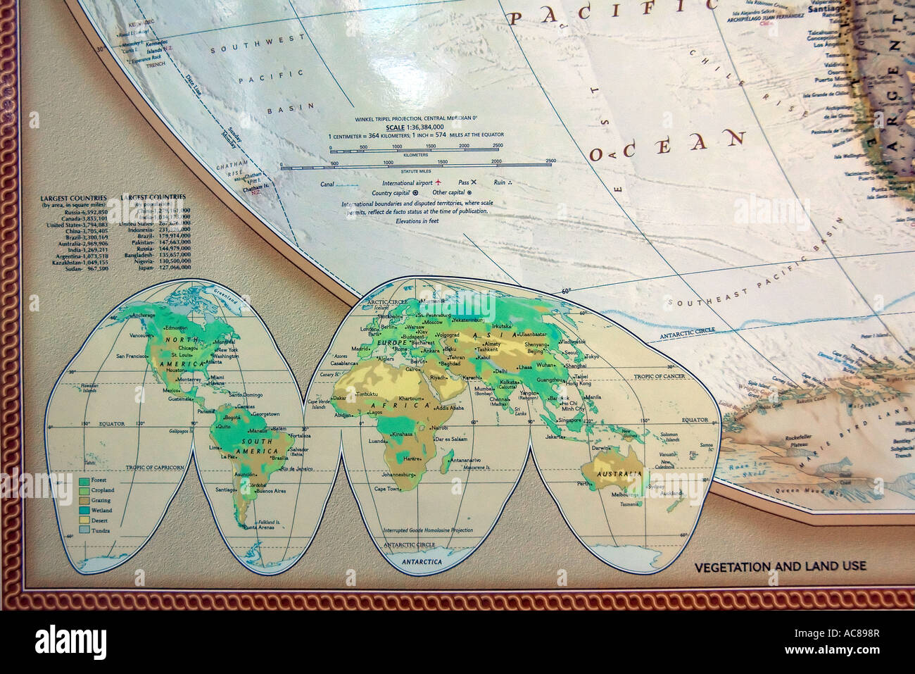 Map legend key stock photos map legend key stock images alamy a view of a corner of a fine detailed and colorful world map showing world gumiabroncs Choice Image
