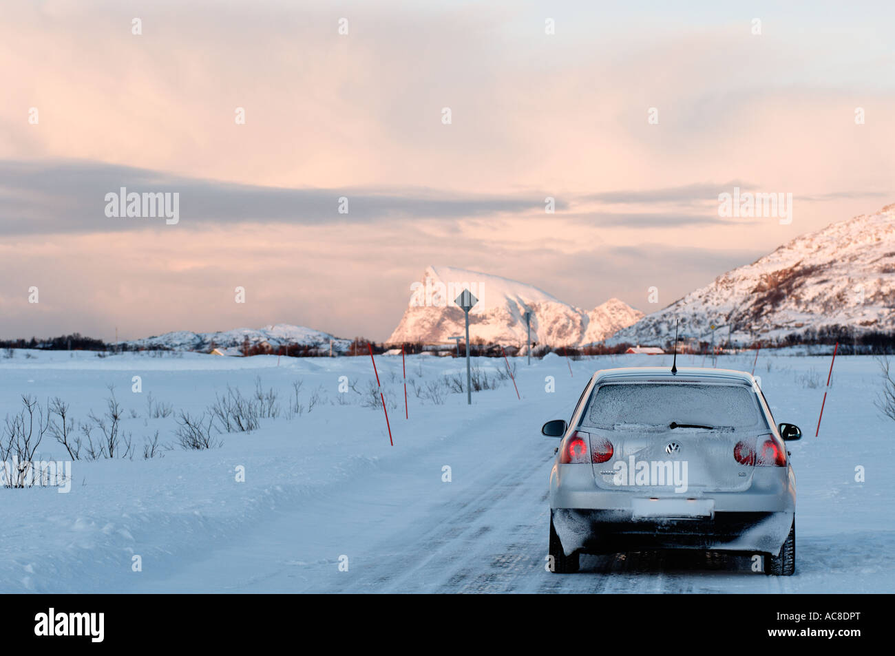 Winter driving on white roads is the norm in northern norway near winter driving on white roads is the norm in northern norway near sommaroy near tromso publicscrutiny Choice Image