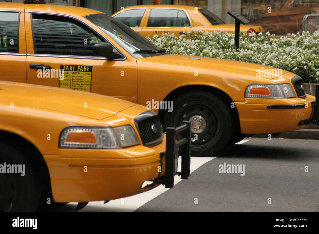 New York taxis - Stock Image