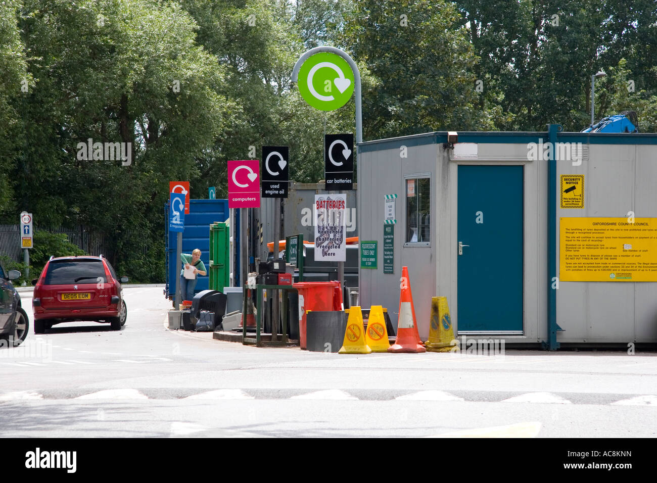 Waste and recycling centre in Oxfordshire 3 - Stock Image