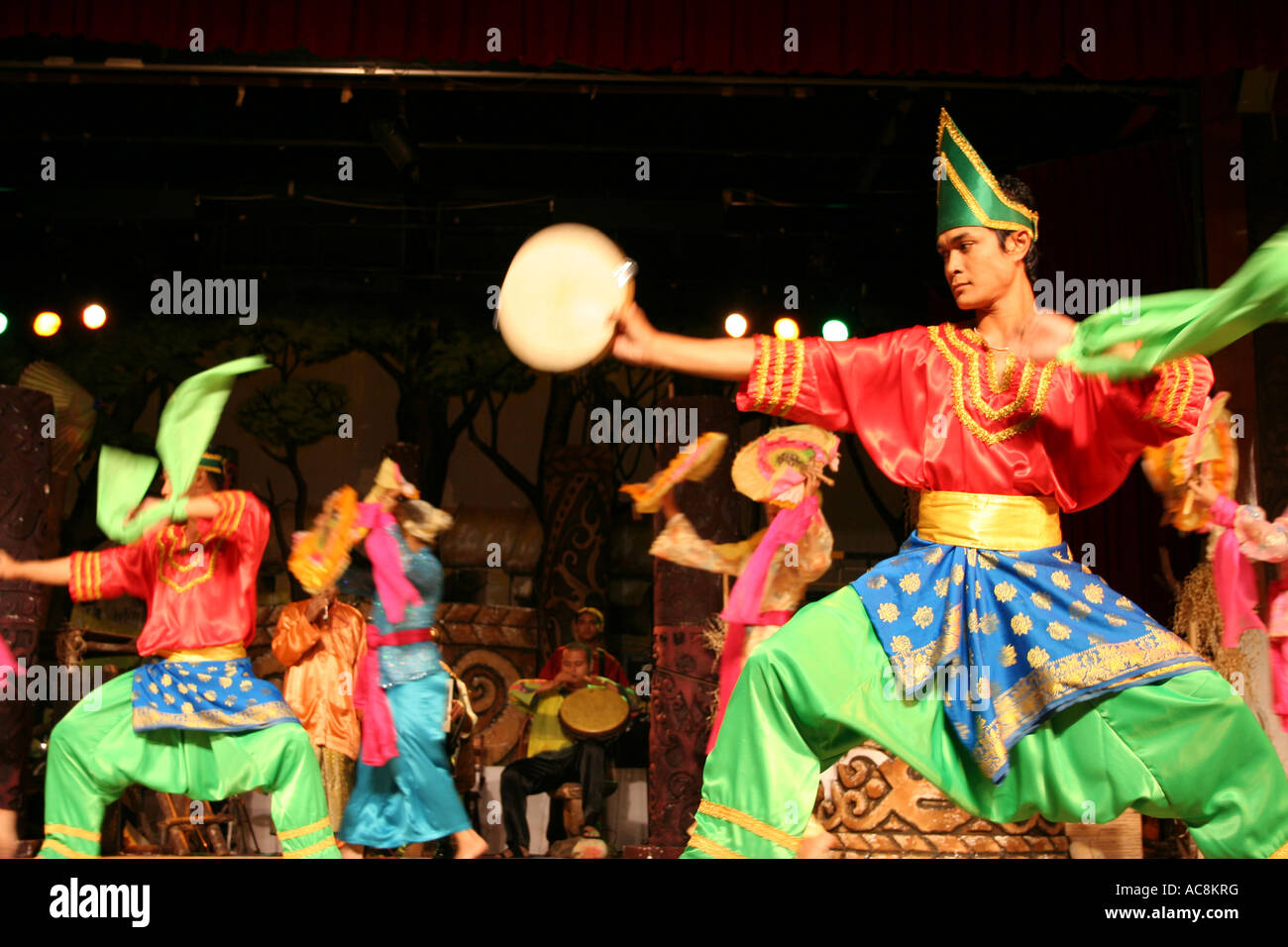 Traditional Malay Dance Performed At Cultural Village In Kuching
