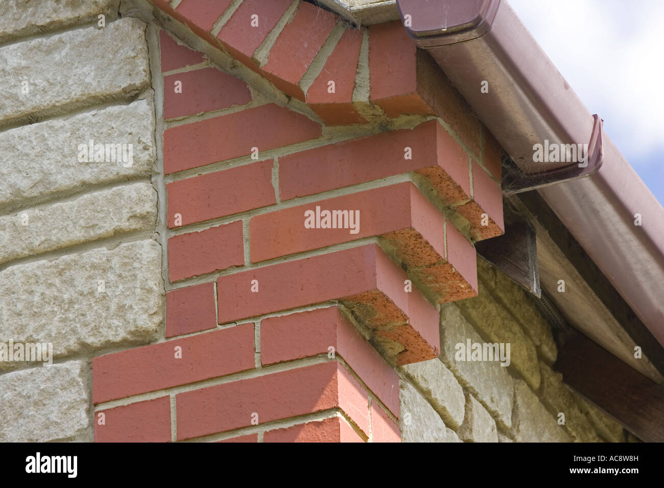 Decorative Fireplace Corbelling Or Brickwork Corbels At Gable Corners Of House