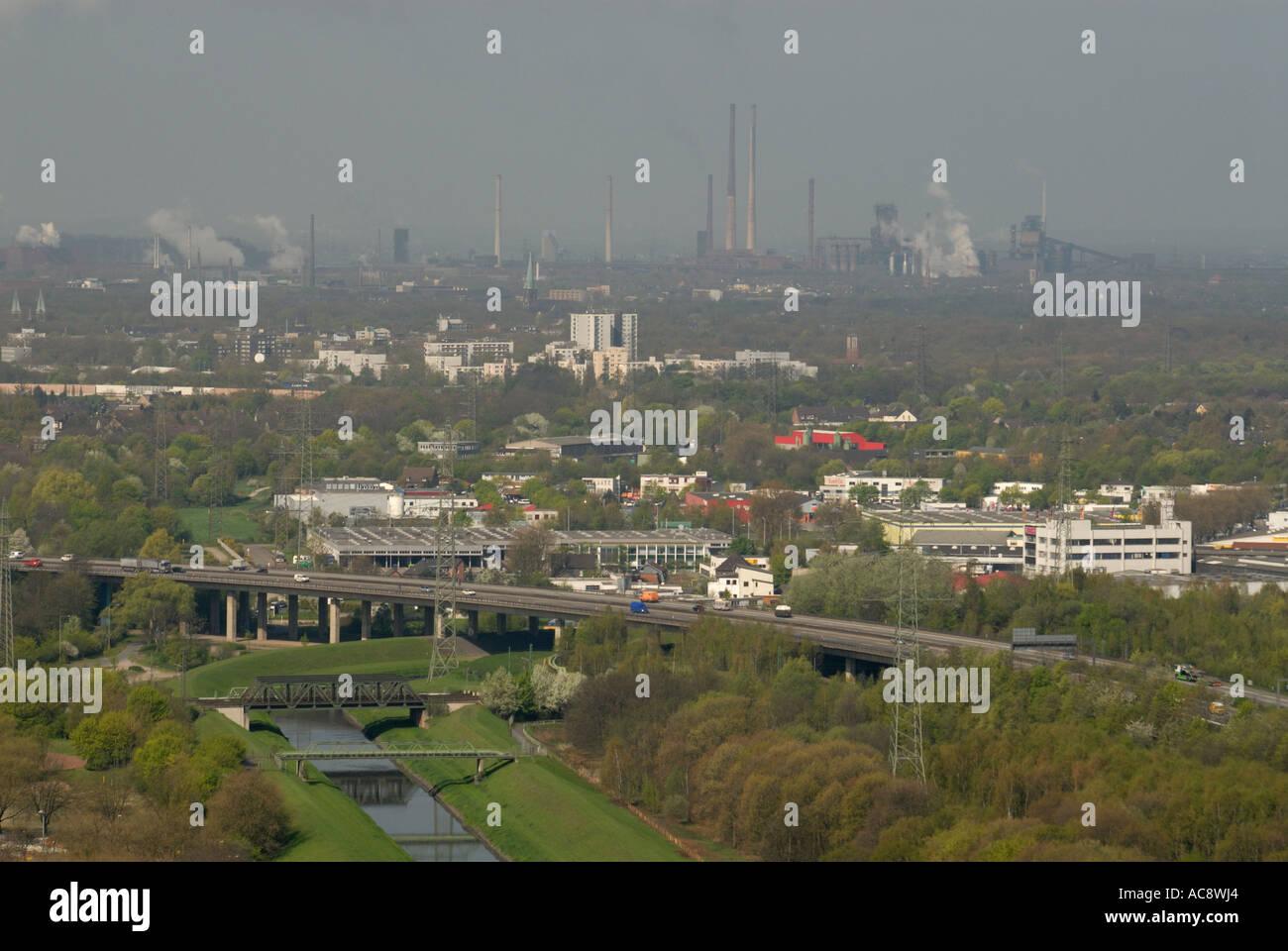 Industrial Ruhr Region at Oberhausen - Stock Image
