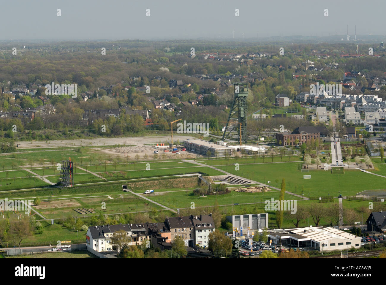 Disused collieries in Ruhr region, Germany - Stock Image