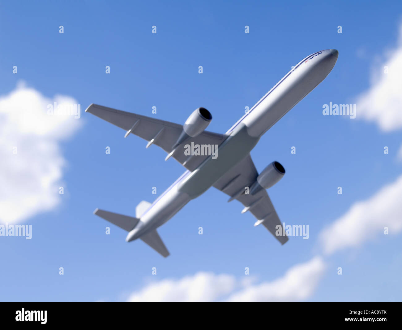 Airplane horizontal - Stock Image