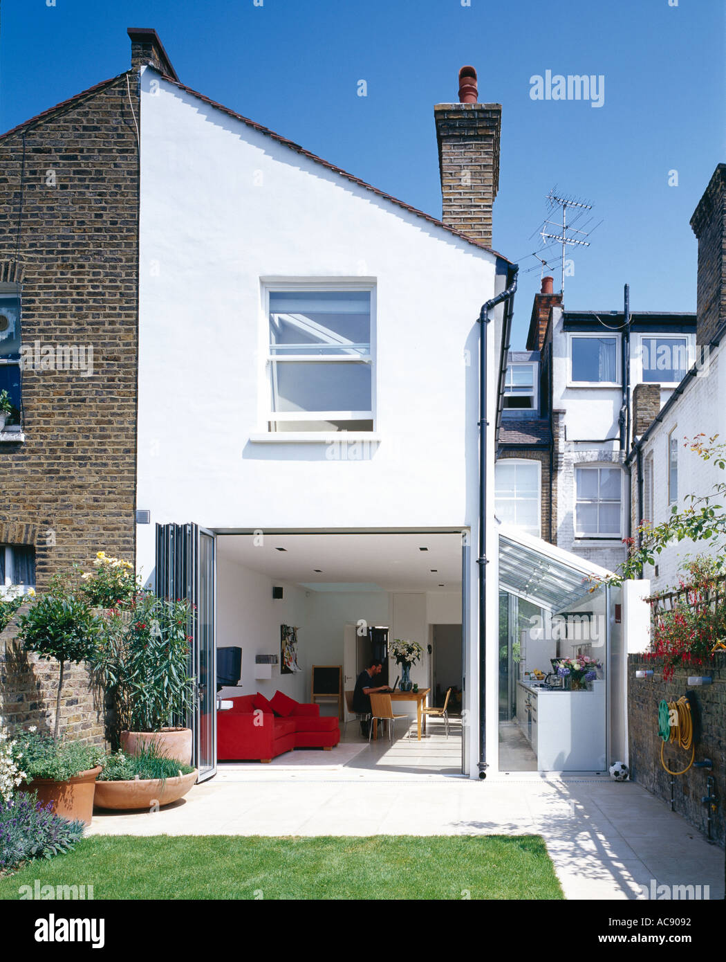 patio extensions 2. Modern Conversion And Extension. (Rear View From Garden) - Patio Extensions 2 C