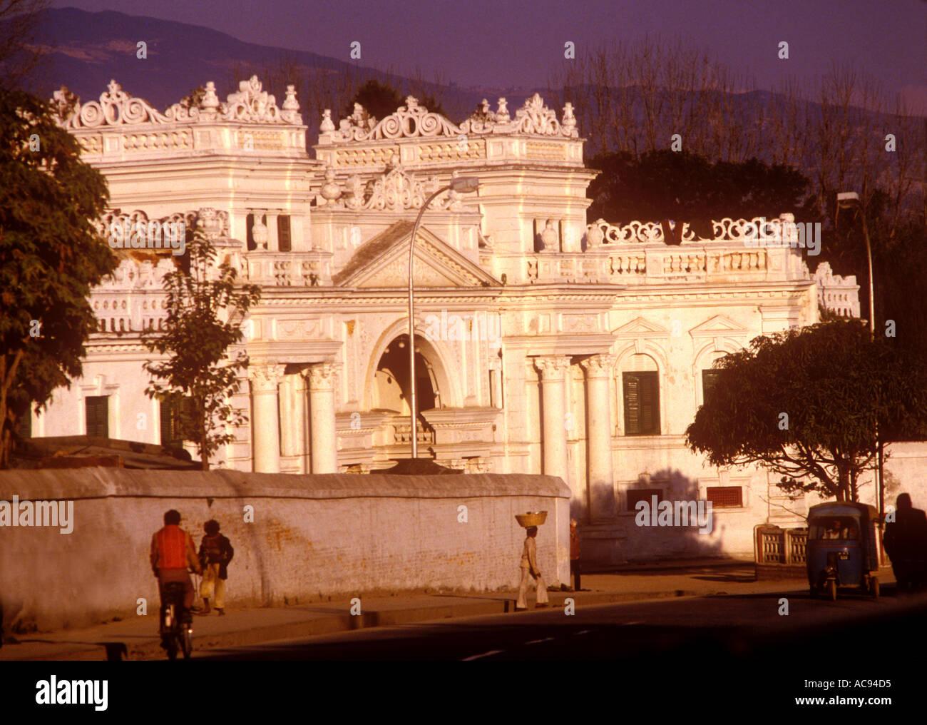 South Gate of Narayanhiti Royal Palace Kathmandu Nepal - Stock Image