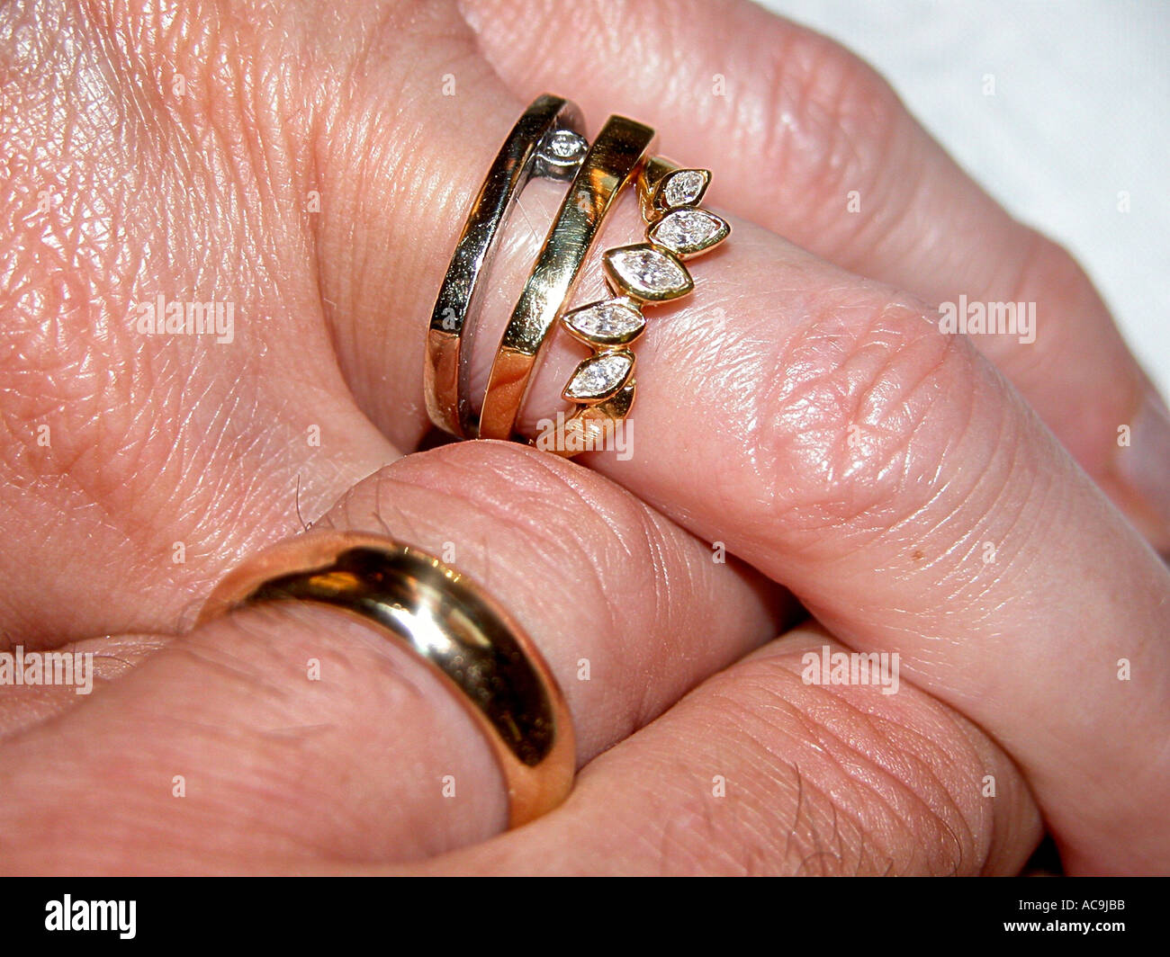 Female and male hands with rings Stock Photo: 4271802 - Alamy