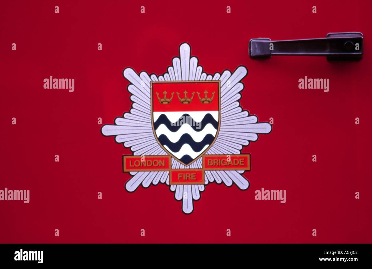 London Fire Brigade Crest - Stock Image