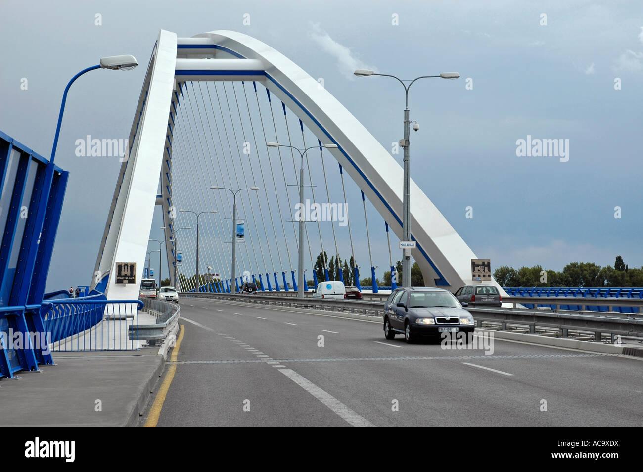 Apollo bridge, Bratislava, Slovakia - Stock Image