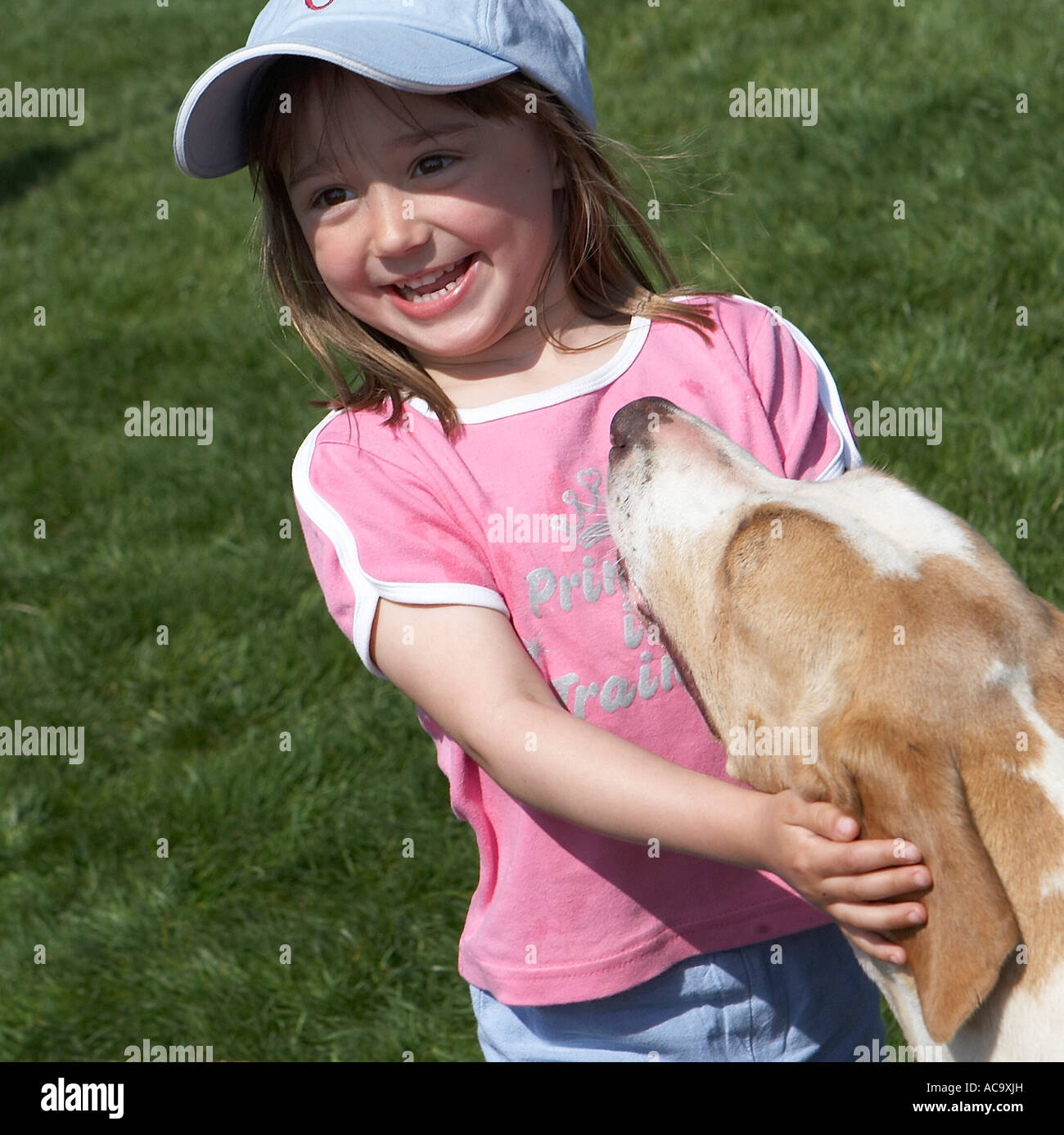 A new best friend - Stock Image