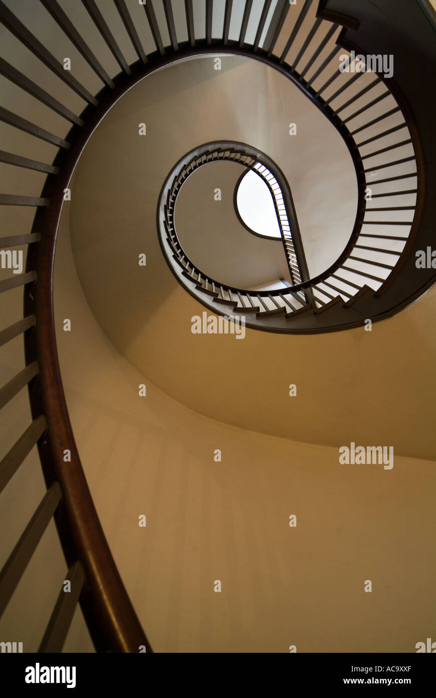 Spiral Free Standing Staircase At Shaker Village In Pleasant Hill Kentucky    Stock Image