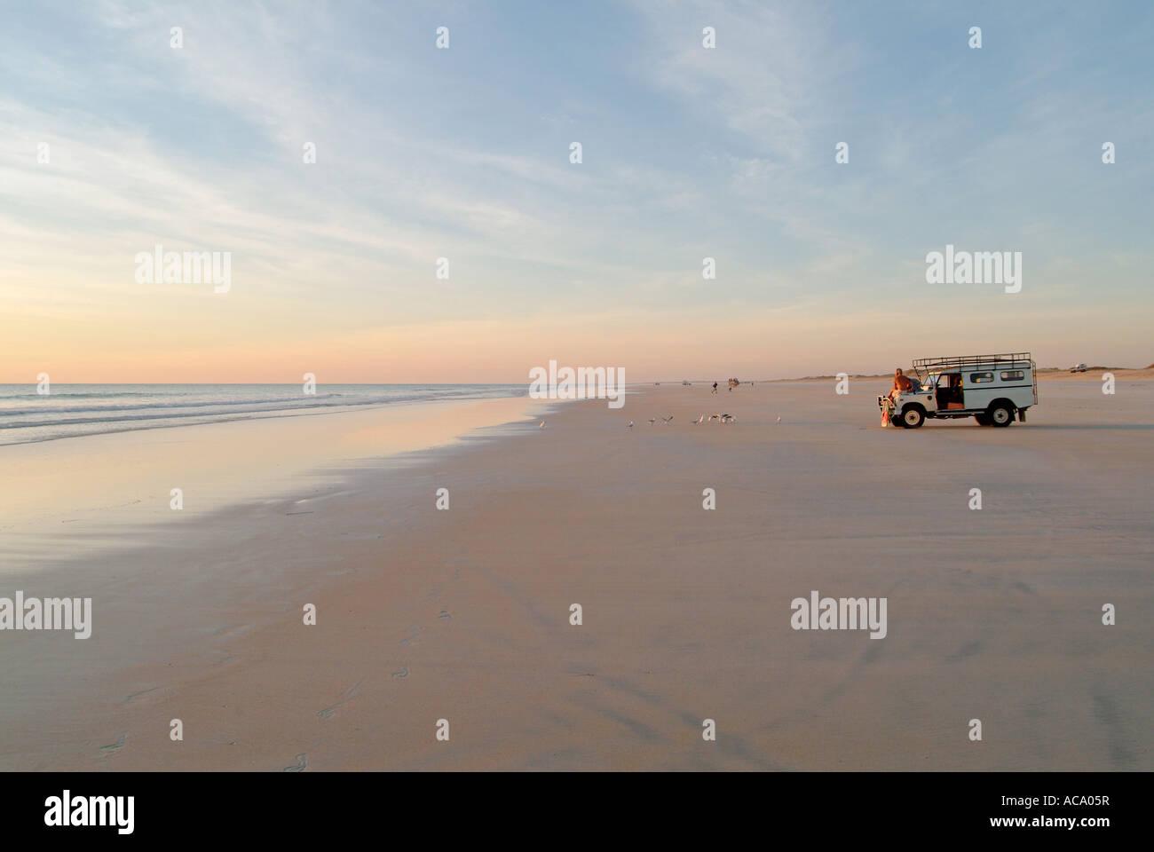 Off-road vehicle, Cable Beach, Broome, Kimberleys, Western Australia - Stock Image