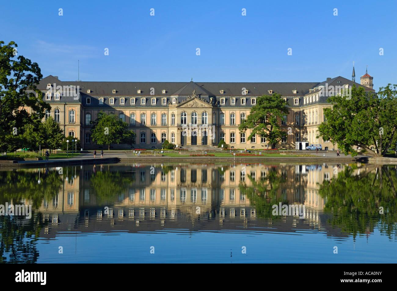 New Palace (Neues Schloss), Stuttgart, Baden-Wuerttemberg, Germany, Europe Stock Photo