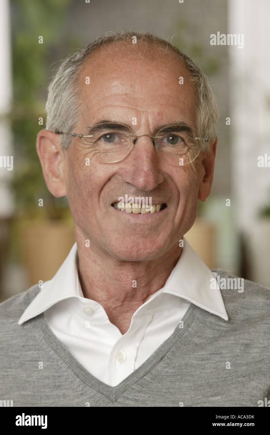 Portrait of an elderly man - Stock Image