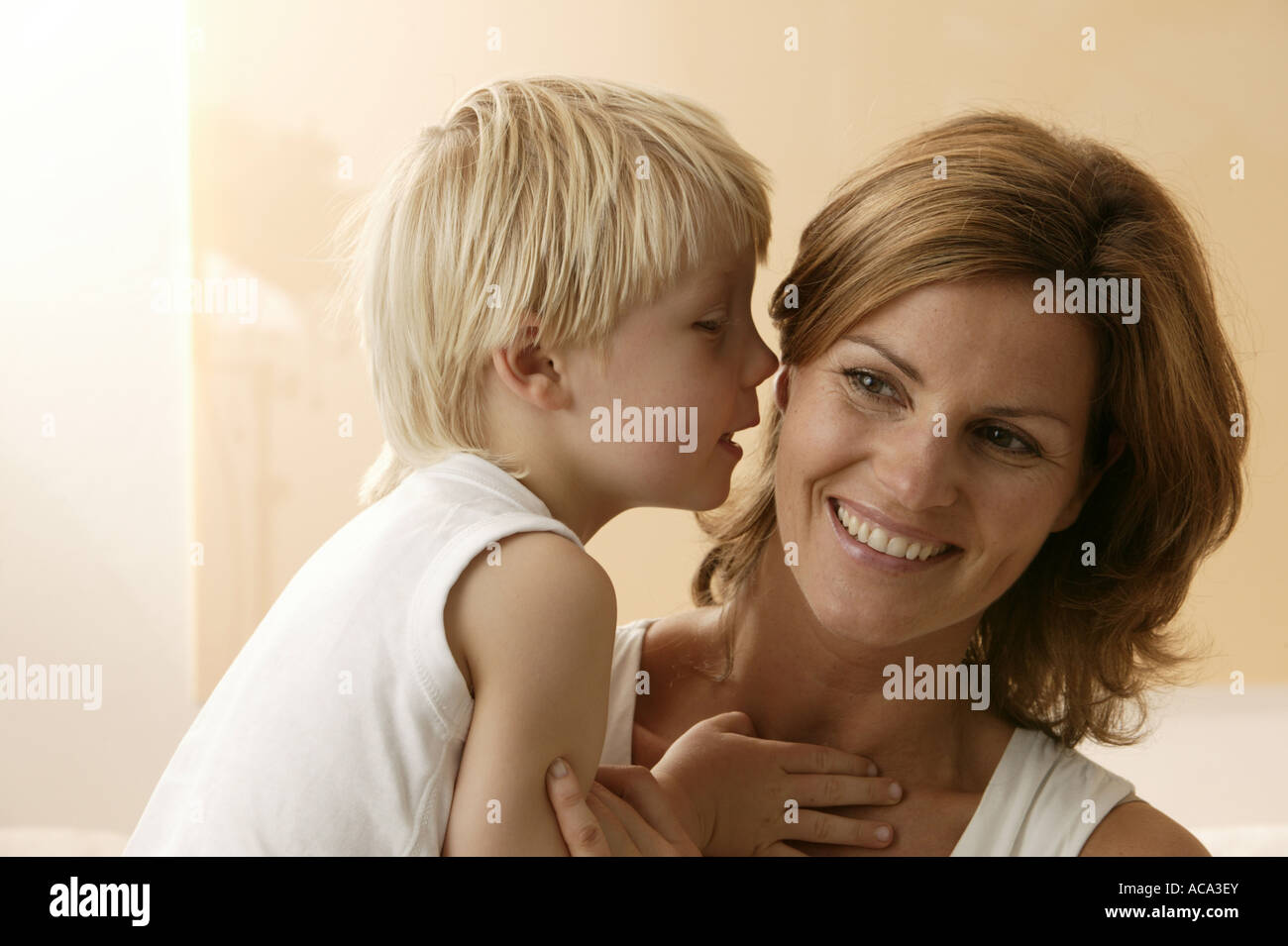 Mother with her little son Stock Photo