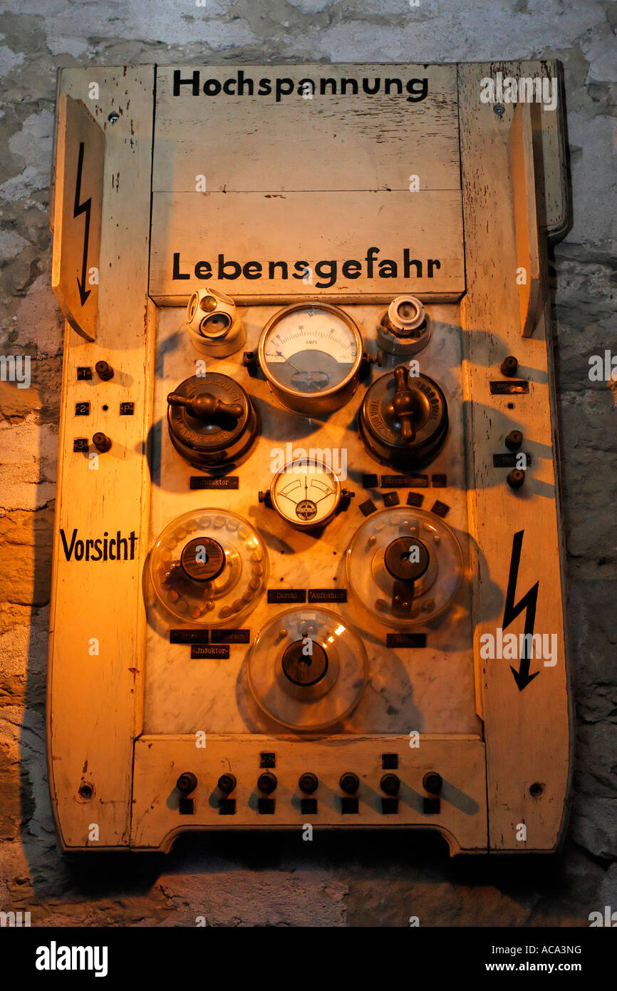 Historic fuse box roentgen cabinet from exhibit at