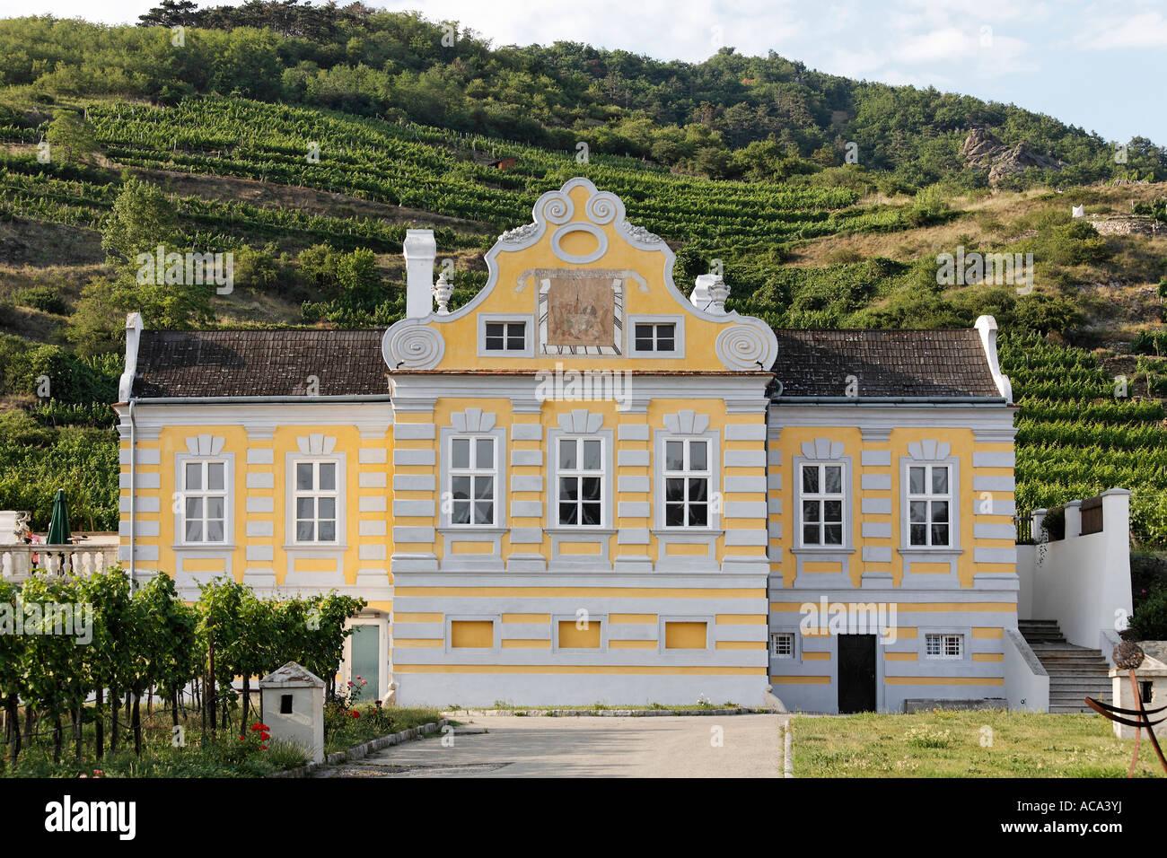 Wine castle, Kellerschloessl, Unterloiben, Duernstein, Wachau, Lower Austria, Austria Stock Photo