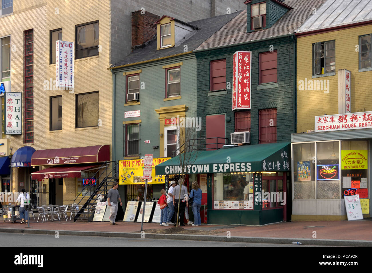 Chinatown Shops And Restaurants Washington Dc Usa Stock