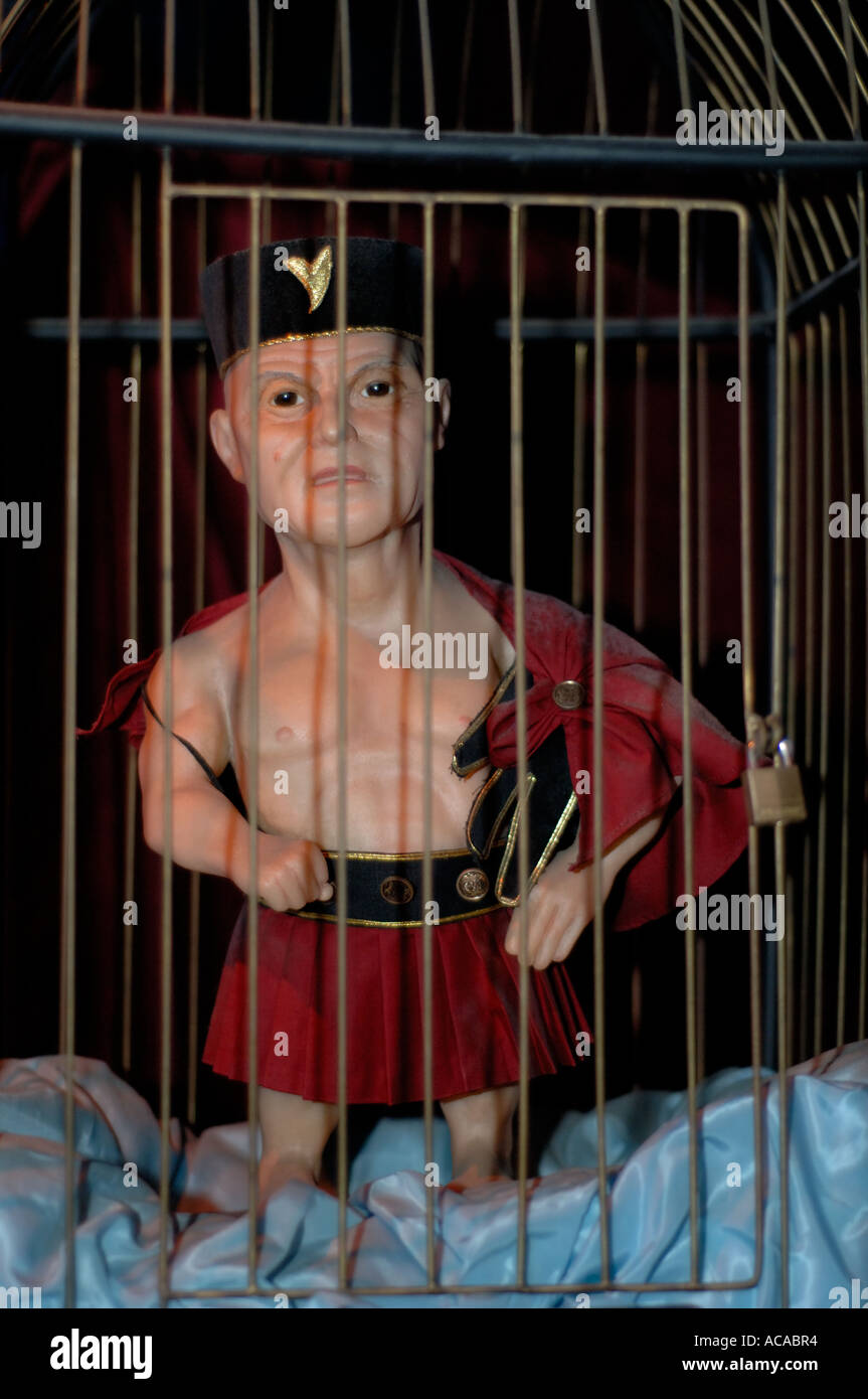 Midget in a cage