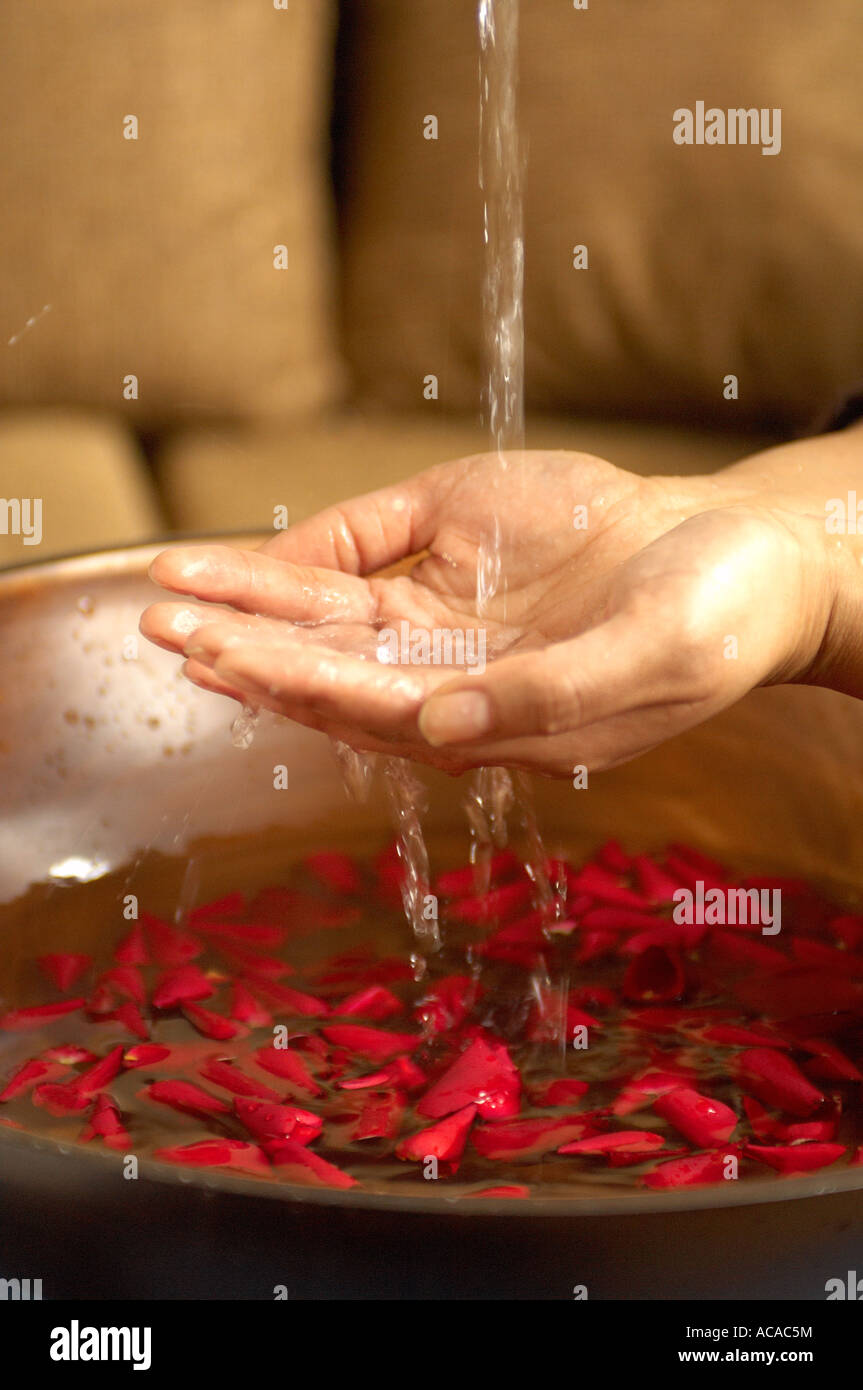 washing hands - Stock Image
