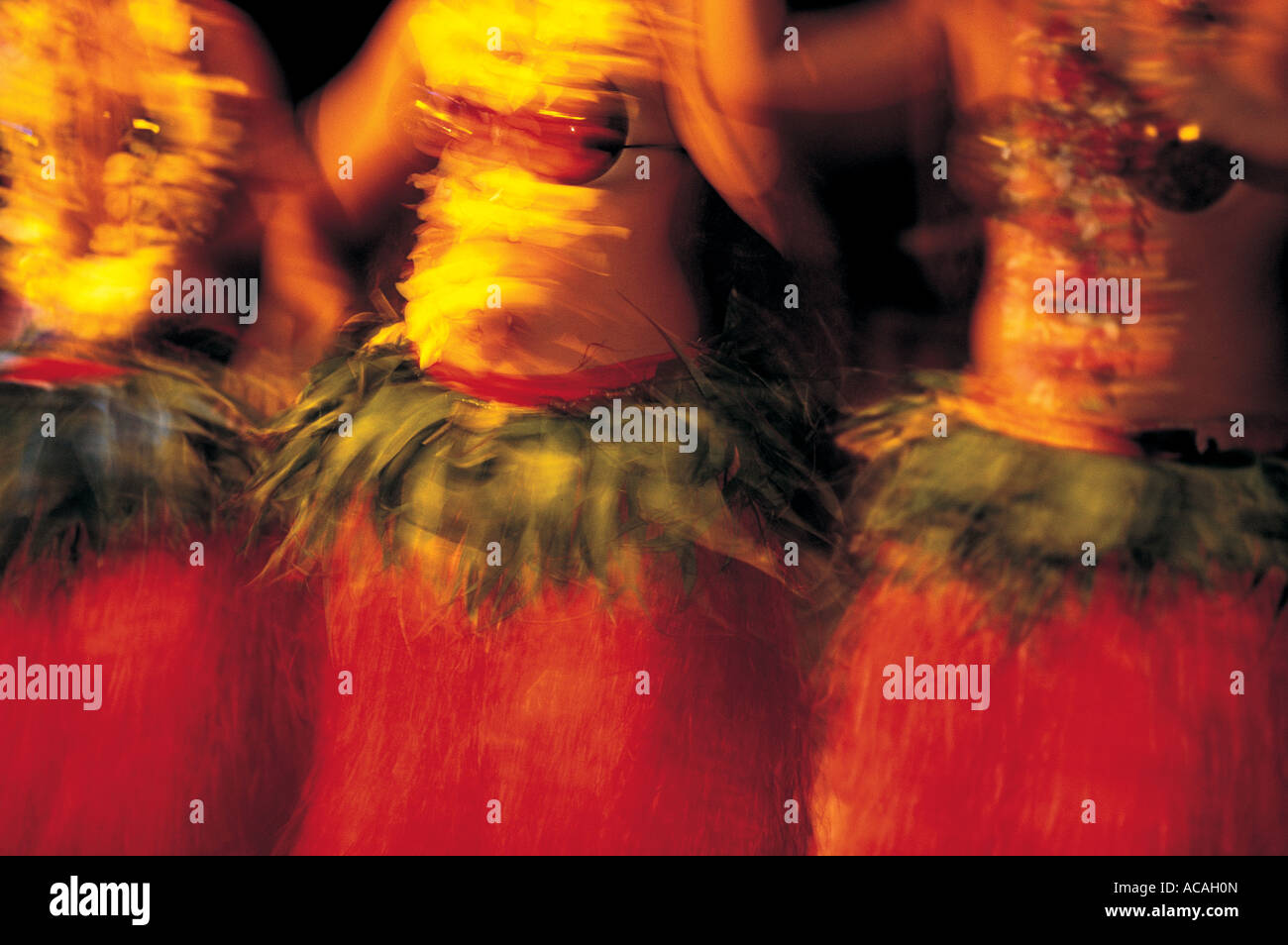 Dancers on the Cook Islands Stock Photo