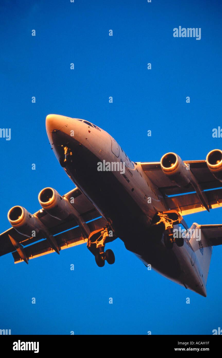 BAE SYSTEMS Avro RJ 146 regional jet aircraft - Stock Image