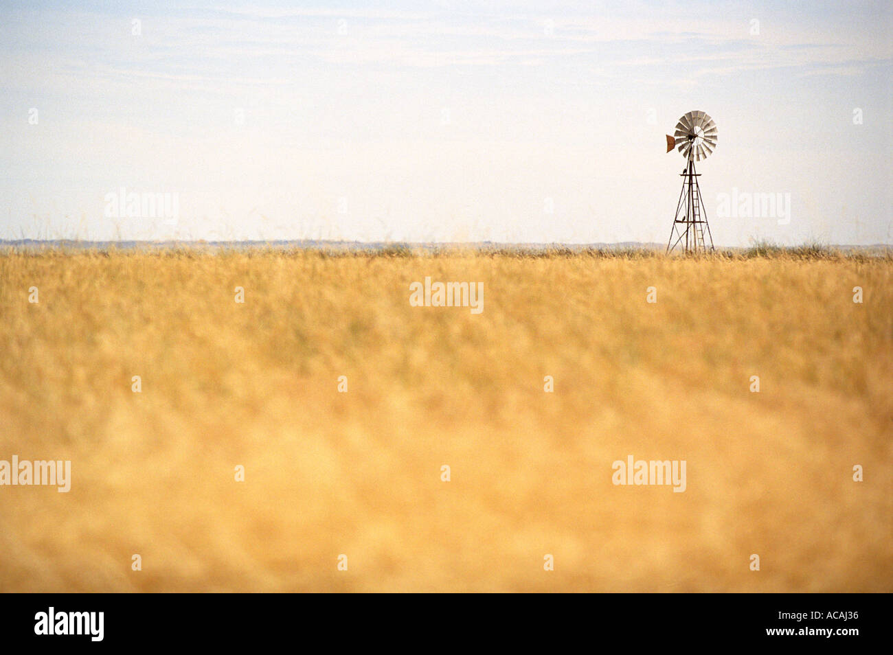 windmill in the Australian outback - Stock Image