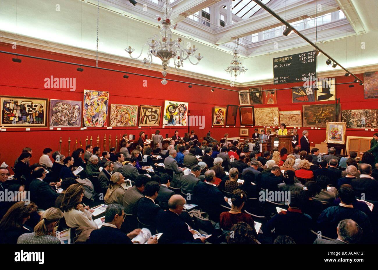 Impressionist Art Sale At Sothebys Auction House Bond Street London UK