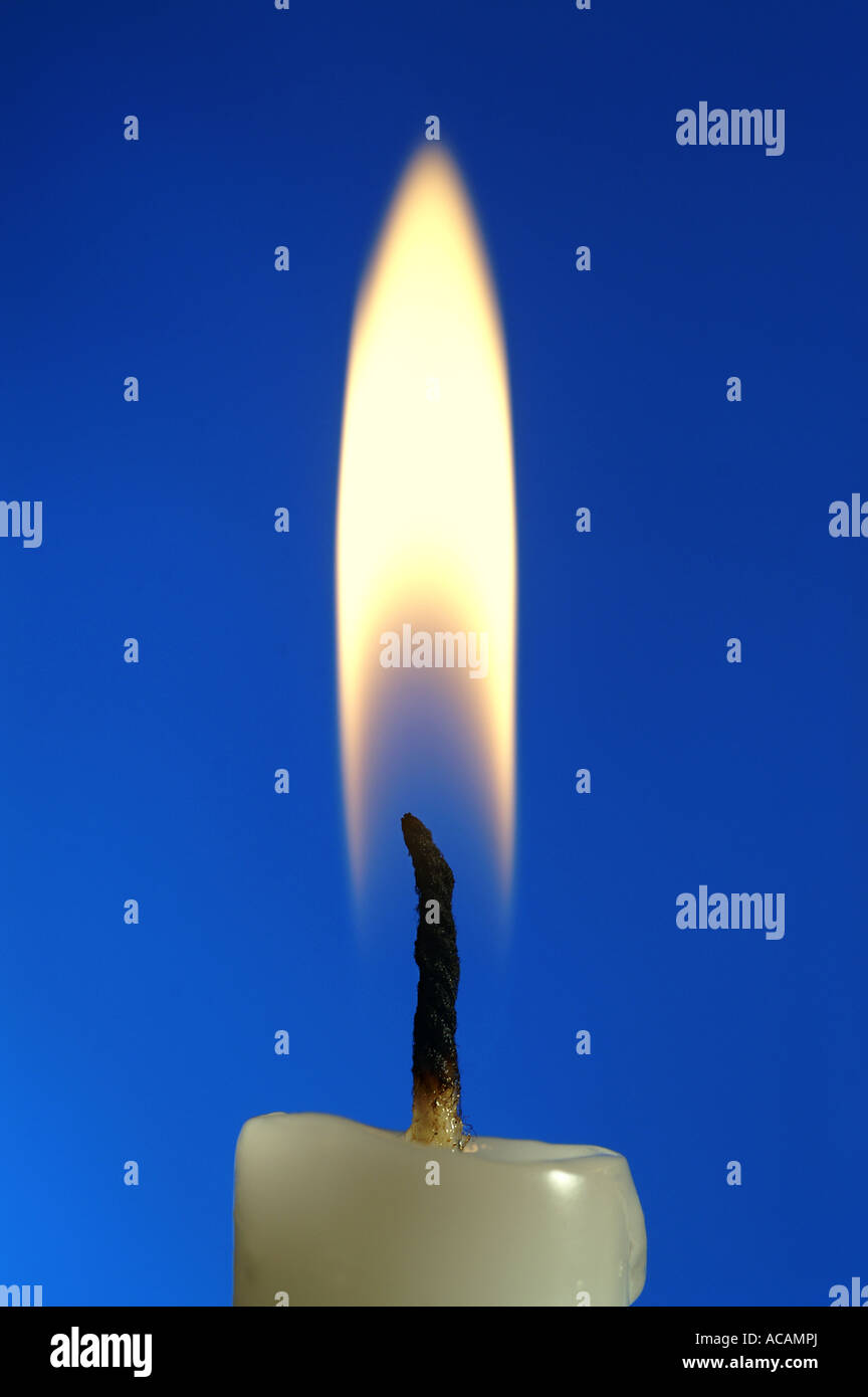Flame of a candle, close-up - Stock Image