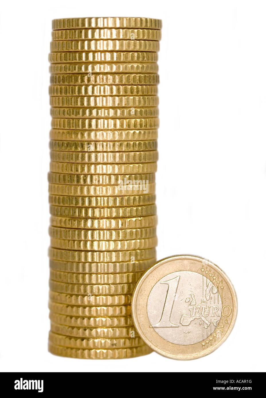 Euro coins - Stock Image