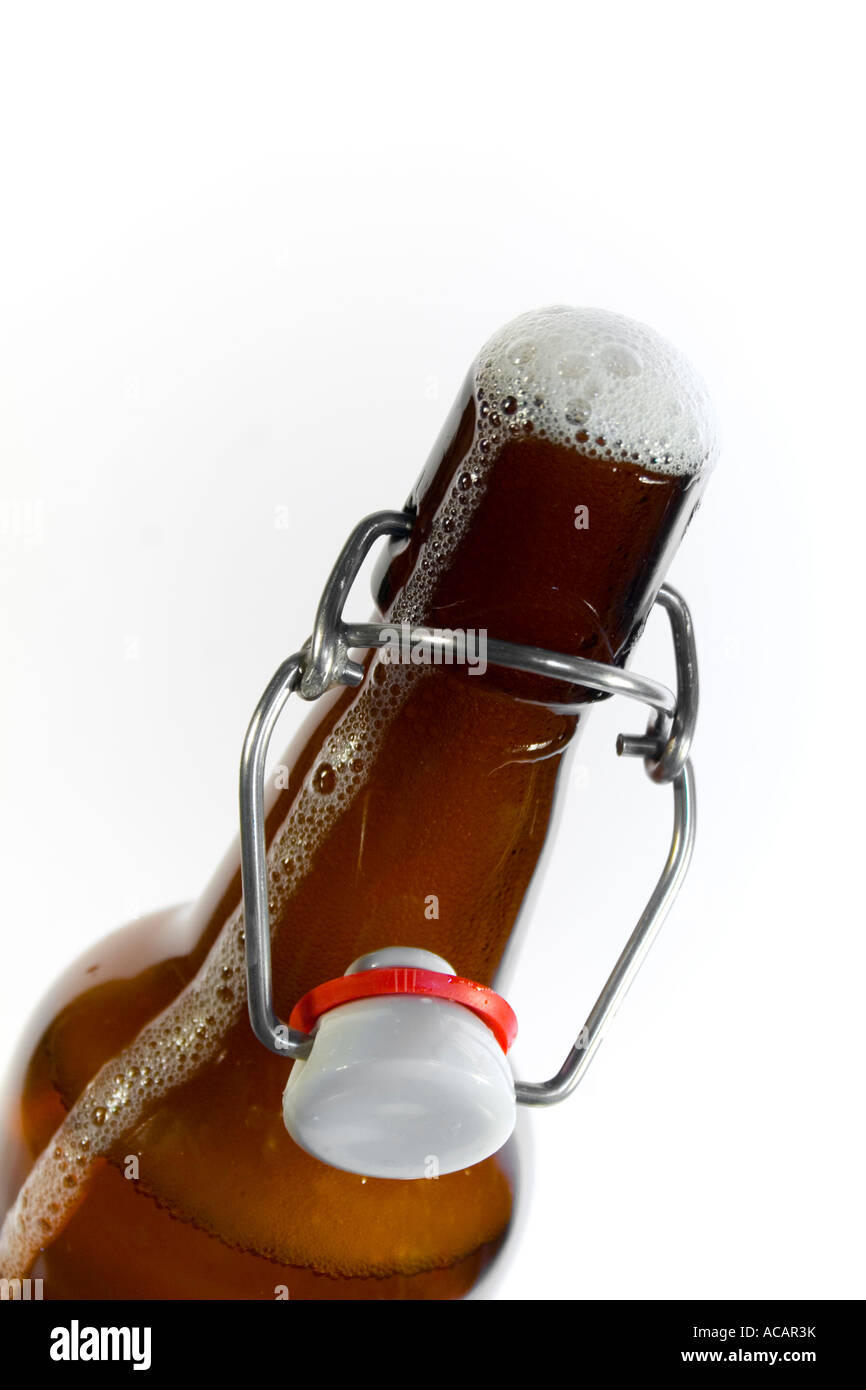 Open beer bottle Stock Photo