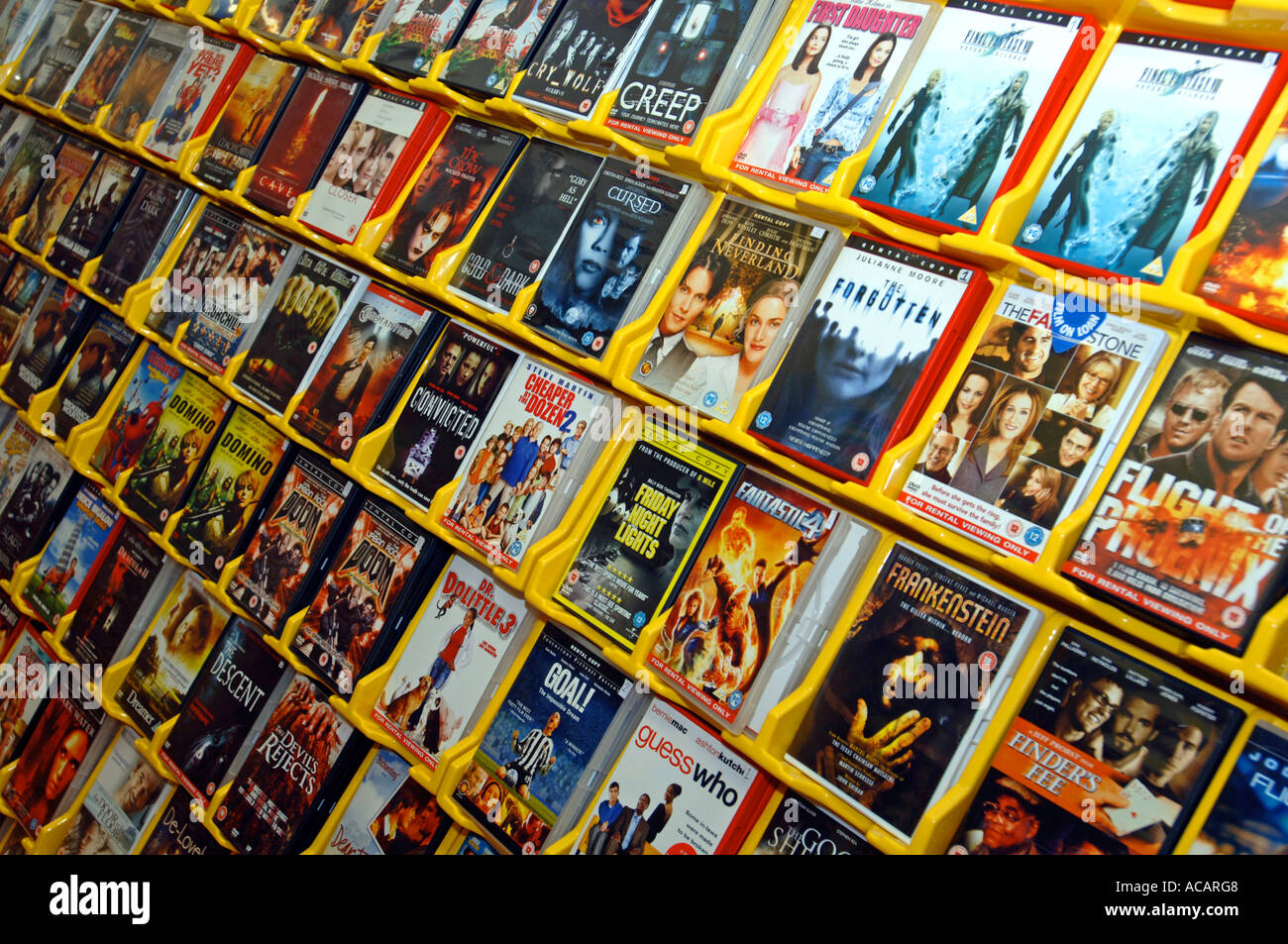 DVD rental store Stock Photo: 7484231