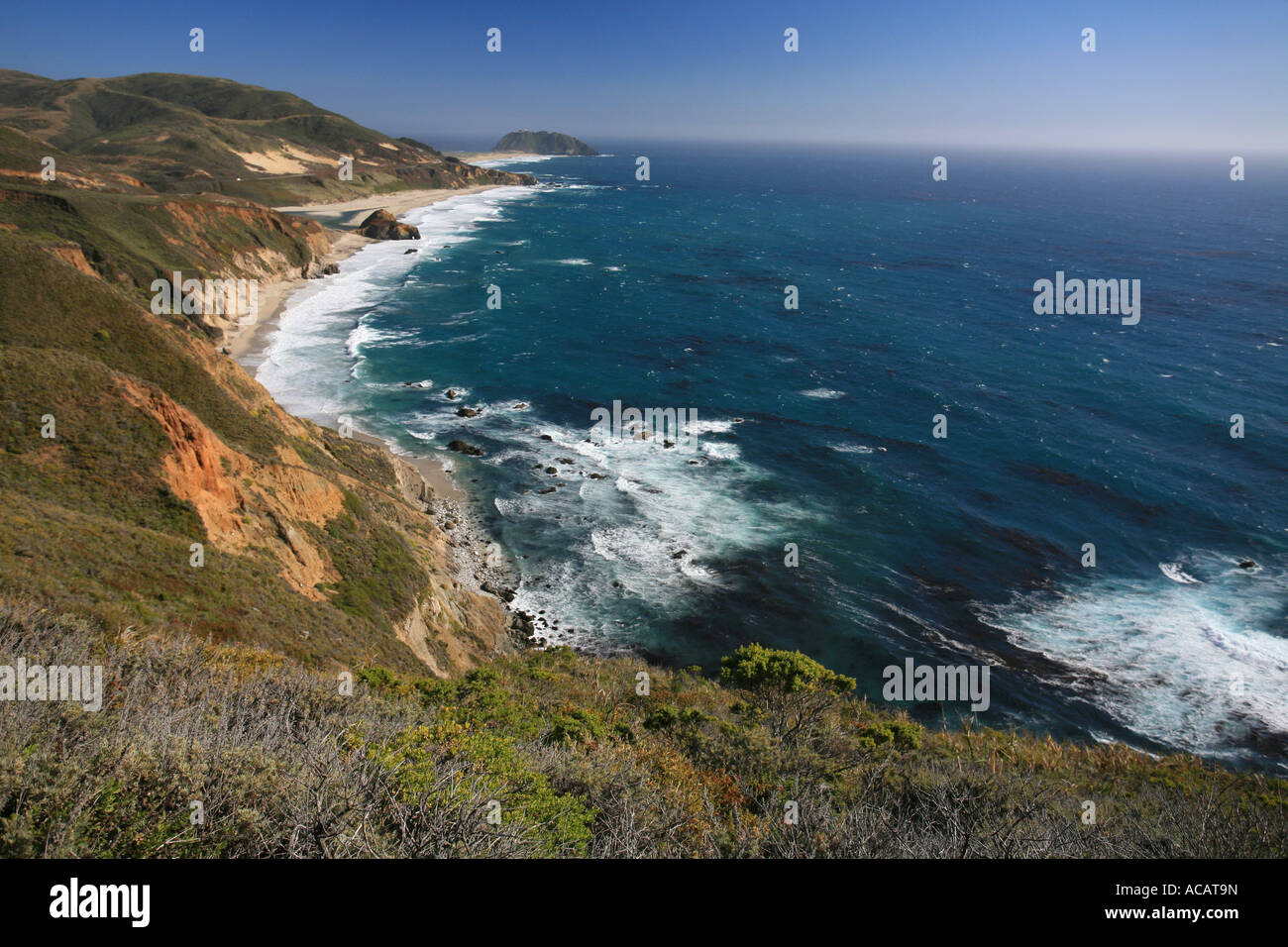 Highway Number One along the Pacific Coast, Big Sur, California, USA - Stock Image
