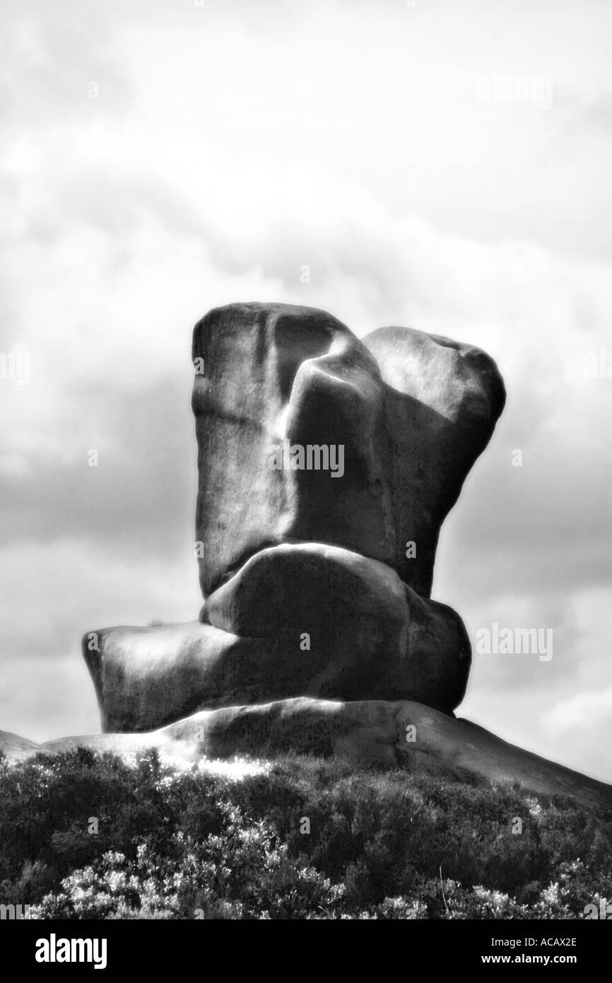 Sculptural Rocks Mono - Stock Image