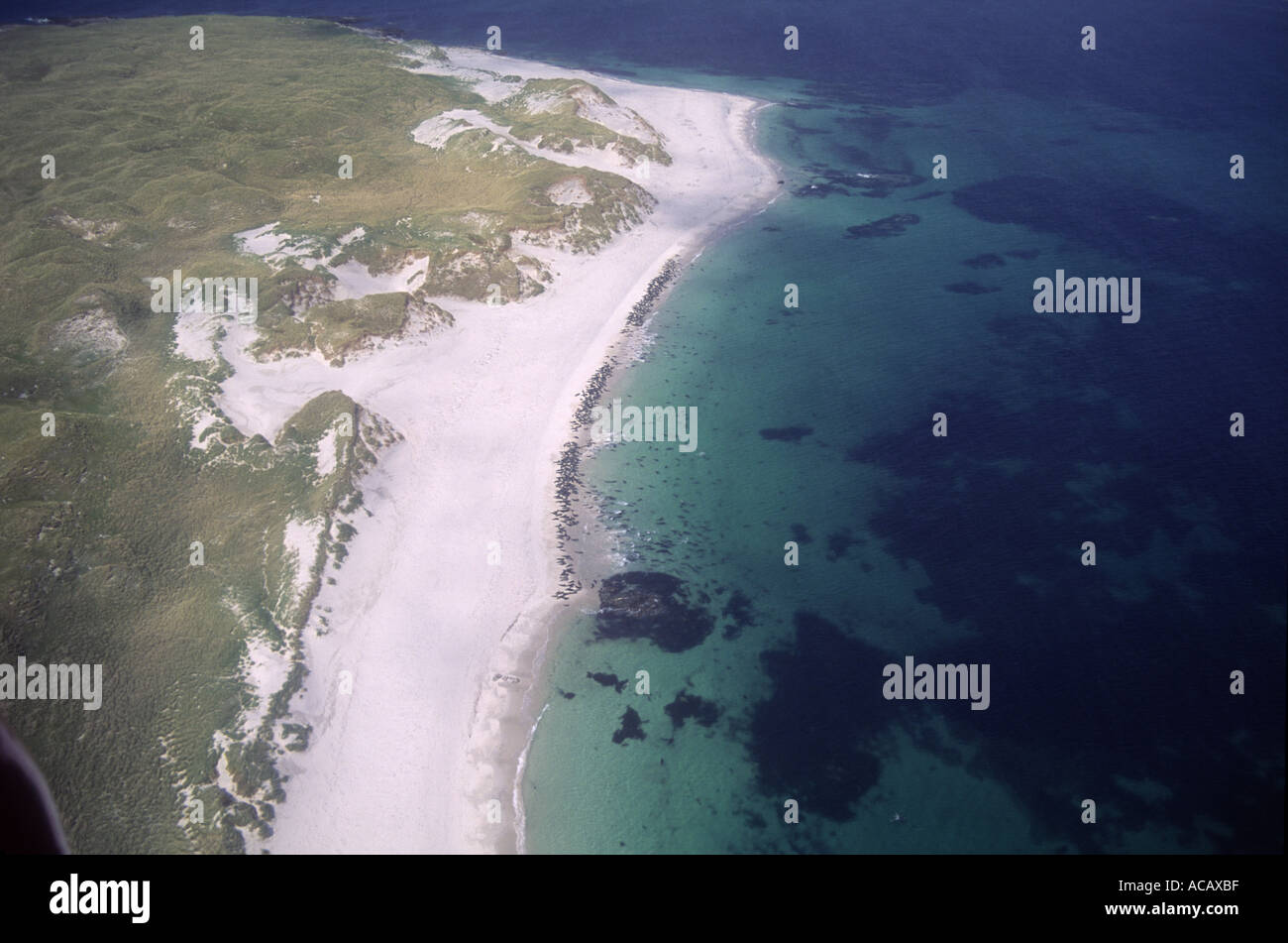 Monach Isles Aerial - Stock Image