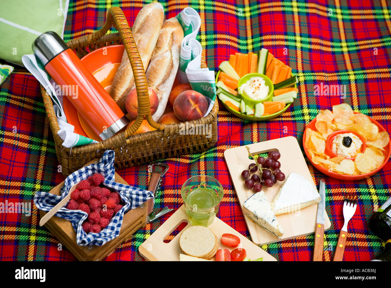 Picnic food - Stock Image