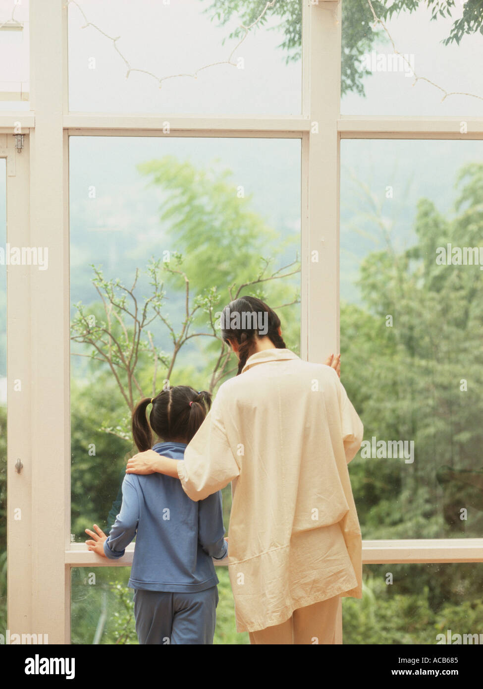 Weekend Family At Home - Stock Image