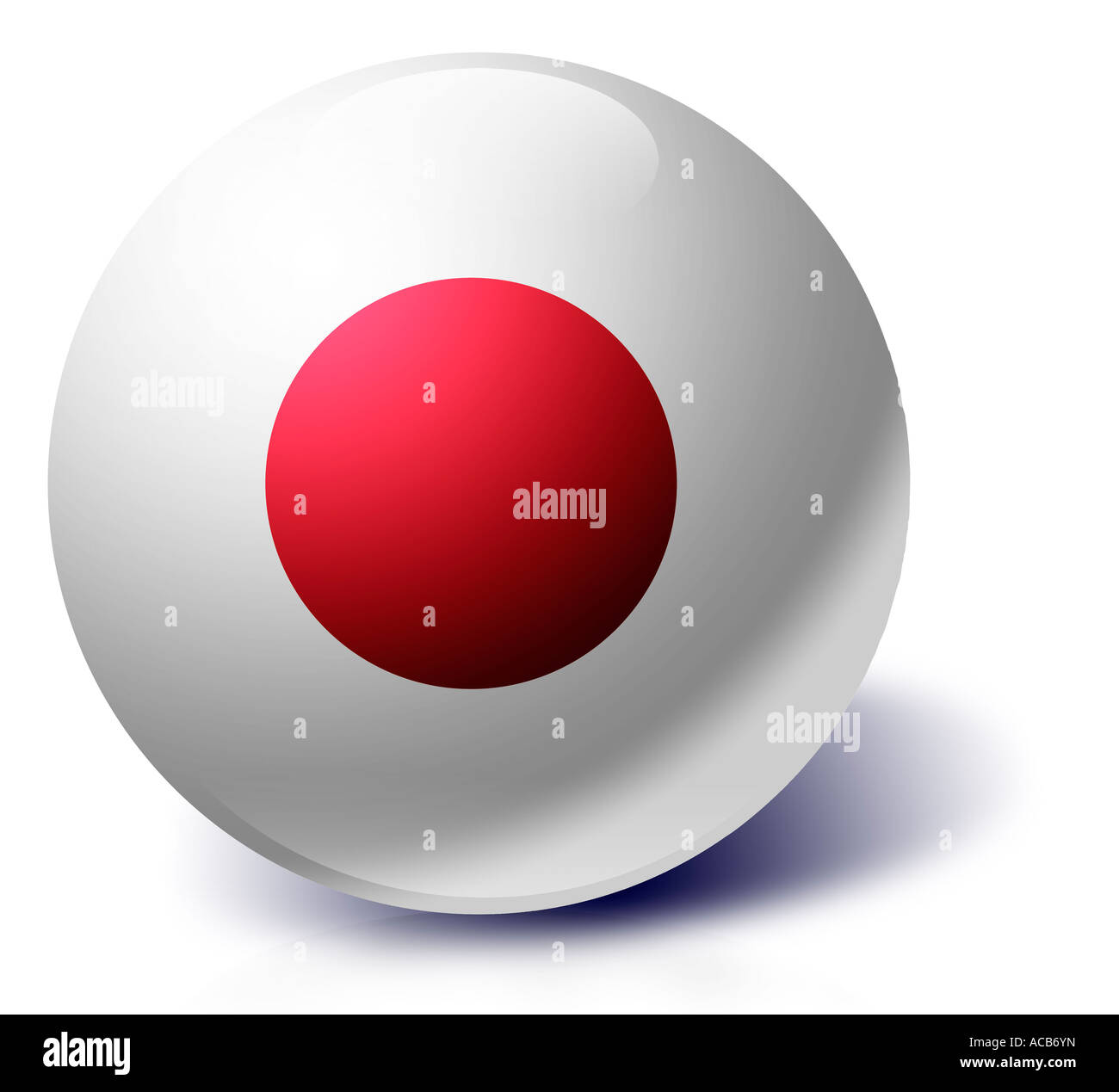 Japan flag as a glass ball Stock Photo